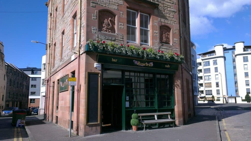 Outside view of Roseleaf bar cafe