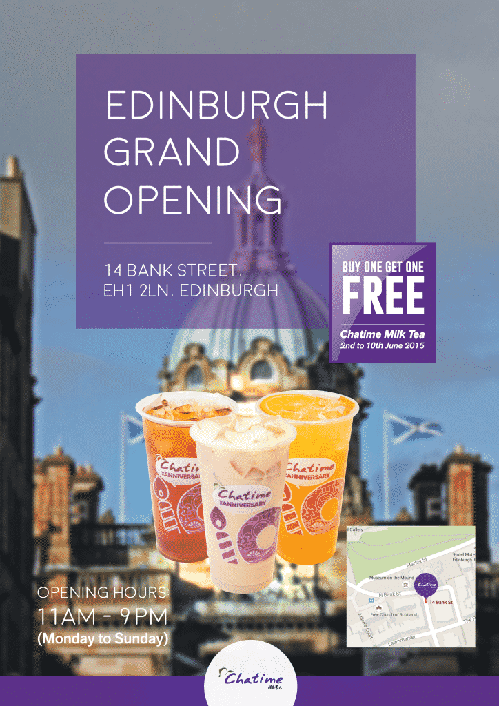 Chatime BOGOF Promotion 5.20